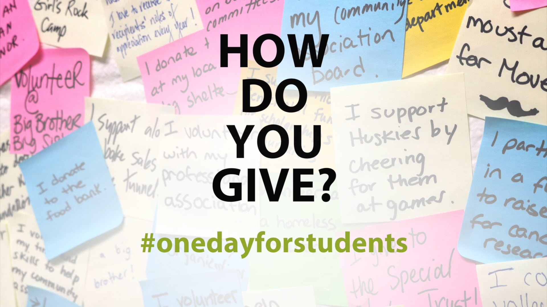 Video thumbnail for U OF S – #ONE DAY FOR STUDENTS